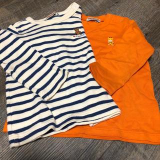 ミキハウス(mikihouse)のミキハウス 80㌢長袖Tシャツ 2枚セット(シャツ/カットソー)