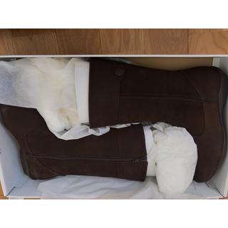 アシックス(asics)の【新品】ブーツ スエード  茶 ブラウン(ブーツ)