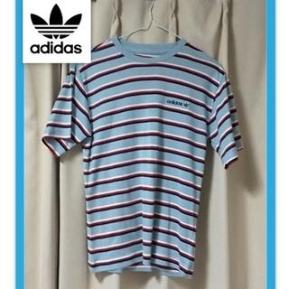 アディダス(adidas)のアディダス ボーダー Tシャツ XS 美品 オマケ付き♪(Tシャツ(半袖/袖なし))