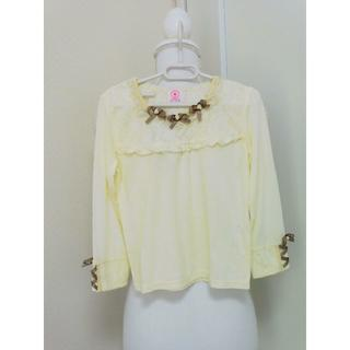 アクシーズファム(axes femme)のy58❤axes femme KIDS 編み上げリボンプルオーバー 新品❤(Tシャツ/カットソー)