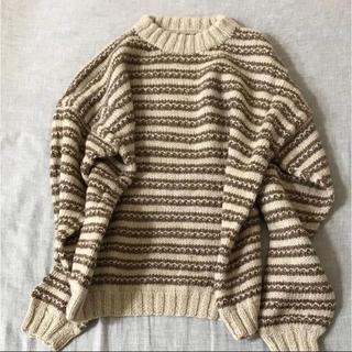 サンタモニカ(Santa Monica)のvintage used knit ウールニット 古着屋購入(ニット/セーター)