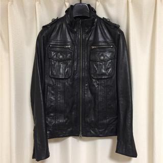 ルイスレザー(Lewis Leathers)のレザー ライダース ジャケット 革 M 黒 ブラック(レザージャケット)