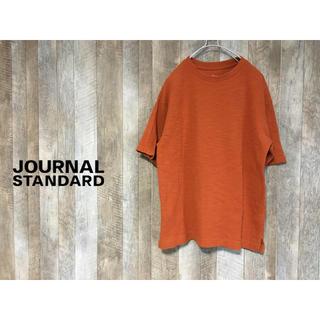 ジャーナルスタンダード(JOURNAL STANDARD)のJOURNAL STANDARD オレンジ 丸首 カットソー サイズ  L(Tシャツ/カットソー(半袖/袖なし))