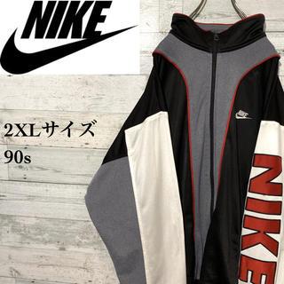 ナイキ(NIKE)の【激レア】ナイキ☆銀タグ ビッグサイズ 刺繍ビッグロゴ トラックトップ 90s(ジャージ)