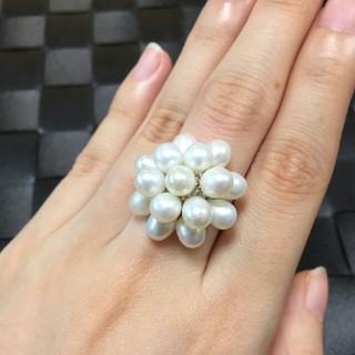 ミキモト(MIKIMOTO)の天然パールリング ベビーパール(リング(指輪))
