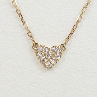 アーカー(AHKAH)の【AHKAHアーカー】ハートパヴェネックレス・K18×ダイヤ(ネックレス)