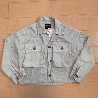 ザラ(ZARA)のZARA ポケット付きシャツジャケット xs (Gジャン/デニムジャケット)