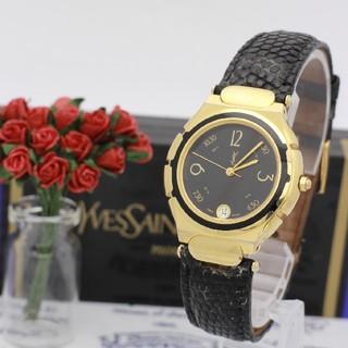 サンローラン(Saint Laurent)の正規品【新品電池】Yves Saint Laurent ゴールド/23K(腕時計(アナログ))