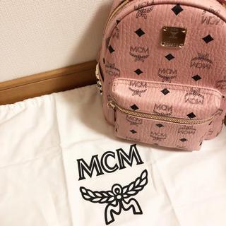 エムシーエム(MCM)のMCM リュック ミニサイズ 薄ピンク(リュック/バックパック)