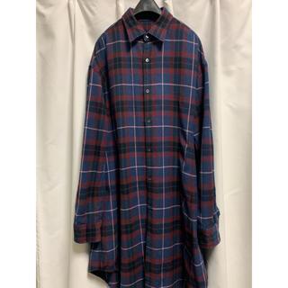 ラッドミュージシャン(LAD MUSICIAN)の16aw  ロングシャツ チェックシャツ サイズ44(シャツ)