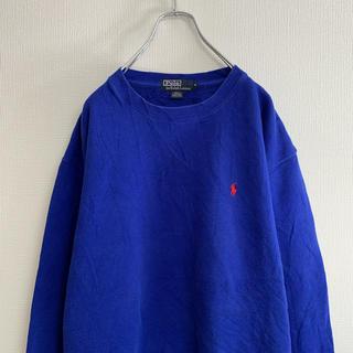 ラルフローレン(Ralph Lauren)の90年代 Ralph Lauren ロゴ スウェット ブルー(スウェット)