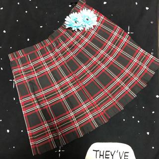 ボディライン(BODYLINE)の大きいサイズ✩.*˚制服 学生 コスプレ ライブ 4L チェックスカート(ひざ丈スカート)