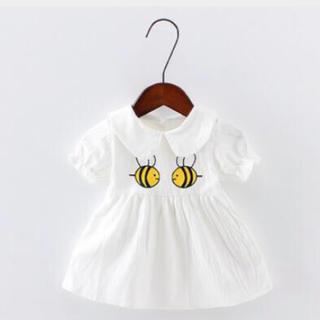 韓国子供服 ぶんぶんミツバチさんワンピース(ワンピース)
