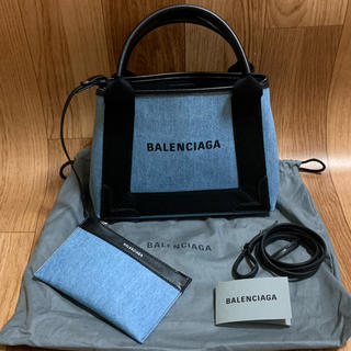 バレンシアガ(Balenciaga)の新品同様 BALENCIAGA バレンシアガ ネイビーカバ デニム2wayバッグ(ハンドバッグ)