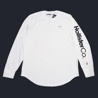 ホリスター(Hollister)の★新品★ホリスター★袖ロゴプリント長袖Tシャツ (White/XXL)(Tシャツ/カットソー(七分/長袖))