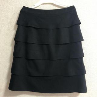 NOLLEY'S - NOLLEY'S ノーリーズ ティアードスカート  ブラック 36