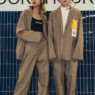 スタイルナンダ(STYLENANDA)の韓国ファッション♡大人気 チェック柄セットアップ(セット/コーデ)