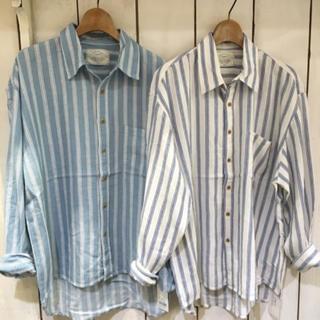 Ungrid - ungrid ストライプルーズシャツ