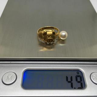 ブタに真珠 K18  リング 指輪(リング(指輪))