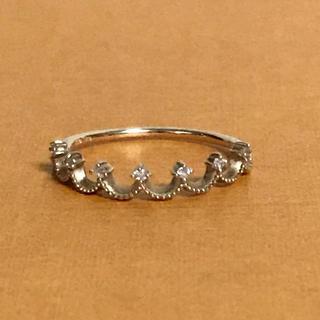エテ(ete)のete エテ クラウンリング ピンキーリング K10 ダイヤモンド レイヤード(リング(指輪))
