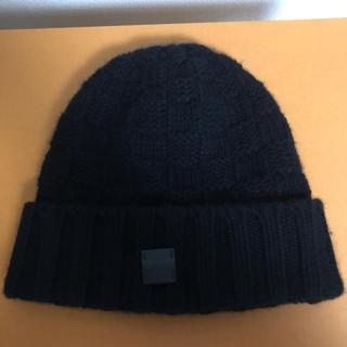 ルイヴィトン(LOUIS VUITTON)のルイヴィトン ニット帽 ボネ・ヘルシンキ M74405 ブラック カシミア(ニット帽/ビーニー)
