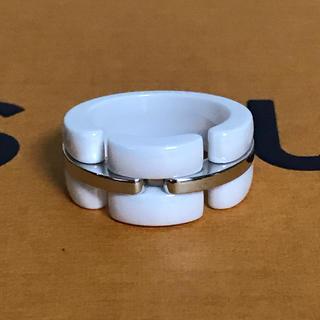 シャネル(CHANEL)のシャネル 指輪 ウルトラリング ホワイトゴールド セラミック 13号 Sサイズ(リング(指輪))