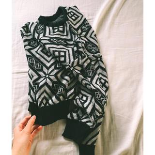 サンタモニカ(Santa Monica)の古着のセーター デザインニット🇮🇹🍝(ニット/セーター)