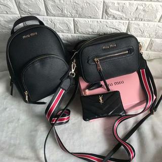 ミュウミュウ(miumiu)の  miumiu 3点セット リュック/バックパック ショルダバッグ 財布   (ショルダーバッグ)