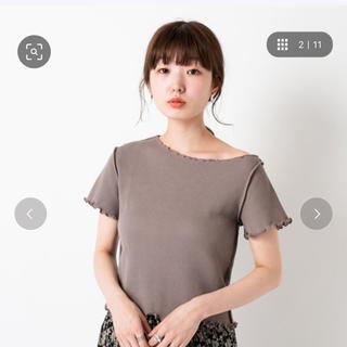 カスタネ(Kastane)のkastane 半袖パイピングメロウワッフルTee (Tシャツ(半袖/袖なし))