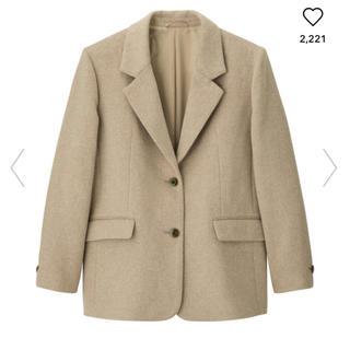 GU - ウールブレンドオーバーサイズジャケット+X gu ジーユー コート ベージュ