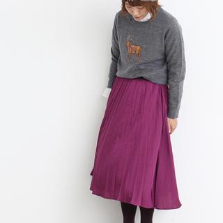 l'atelier du savon - Noir ヴィンテージサテン変形プリーツスカート  ..:*。