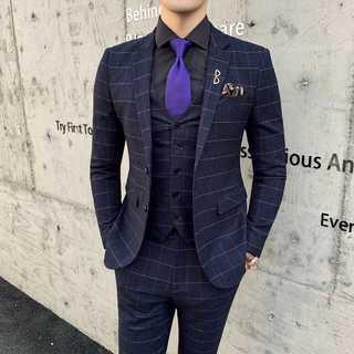 メンズスーツセットアップ人気ホスト定番ビジネス司会者スリム紳士服黒 OT070(セットアップ)