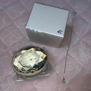 ヨンドシー(4℃)の4℃ K10ホワイトゴールドネックレス アクアマリン(ネックレス)