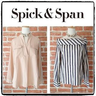 Spick and Span - 【2点】スピックアンドスパン◆美品◆スキッパーブラウス×ストライプブラウス