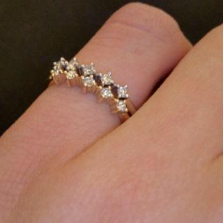 アーカー(AHKAH)のAHKAH ダイヤモンドピンキーリング(リング(指輪))