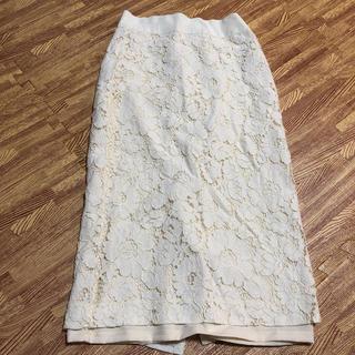 バナナリパブリック(Banana Republic)のBanana Republic♡白レースタイトスカート(ひざ丈スカート)