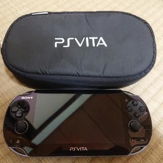 PlayStation Vita - PlayStation®Vita クリスタル・ブラック Wi-Fiモデル PC…