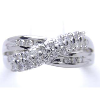 お値引き不可 PT850 合計0.54ct 天然 ダイヤ リング(リング(指輪))