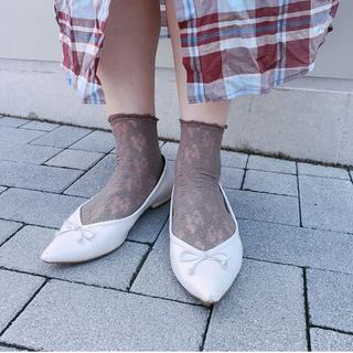 靴下屋 - 縫製レースショートソックス タビオ