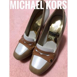 マイケルコース(Michael Kors)のMICHAEL KORS  マイケルコース ローファー調 ヒール パンプス(ハイヒール/パンプス)