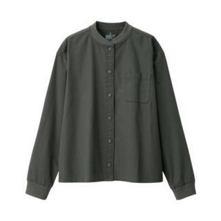 ムジルシリョウヒン(MUJI (無印良品))の新疆綿洗いざらしピンオックスリブスタンドカラーシャツ (シャツ/ブラウス(長袖/七分))