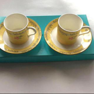 ティファニー(Tiffany & Co.)の新品 未使用 ティファニー  デミタスカップ&ソーサーピンクチューリップ2客(グラス/カップ)