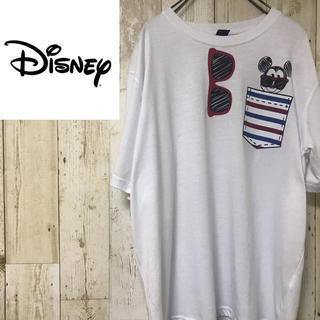 Disney - 【激レア】ディズニー☆ワンポイントプリント ビッグシルエット Tシャツ