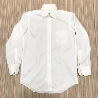 ジョンピアース 白シャツ チェック チェッカーフラッグ S 長袖(シャツ/ブラウス(長袖/七分))