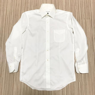 ジョンピアース 白シャツ チェック チェッカーフラッグ S 長袖(シャツ)