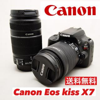 Canon - 運動会大活躍!Canon eos kiss X7 ダフルズーム 美品 連写