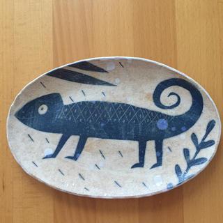 マリメッコ(marimekko)の鹿児島睦さん オーバル お皿 新品 カメレオン ハンドメイド(食器)