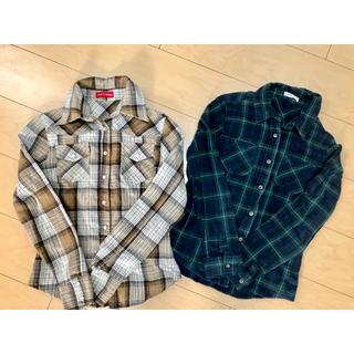 大人気チェックシャツ 2枚 まとめ売り(シャツ/ブラウス(長袖/七分))