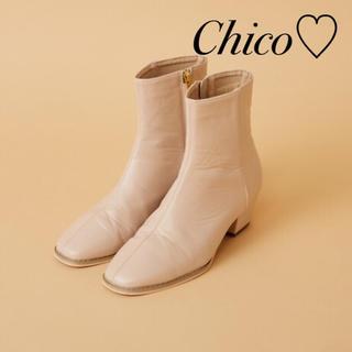 who's who Chico - 新作♡ スクエアショートブーツ ヘザー ナイスクラップ スナイデル kbf