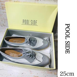 プールサイド(POOL SIDE)のプールサイド レースアップ ウィングチップ オックスフォード シューズ(ローファー/革靴)